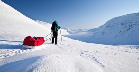 Wintertrekking auf dem Kungsleden