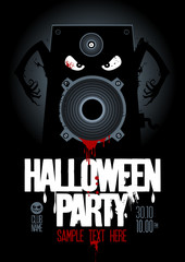 Halloween Party Design template, with wicked bloody speaker