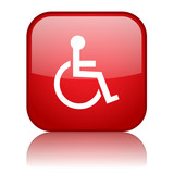 DISABILITY Web Button (disabled handicapped icon symbol access)