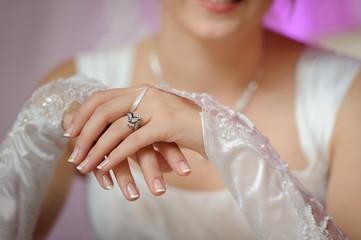 Hands of the bride