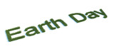 Earth Day Type made by Grass poster