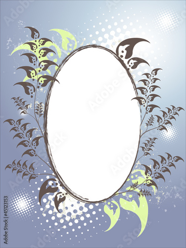 Artificial christmas frame