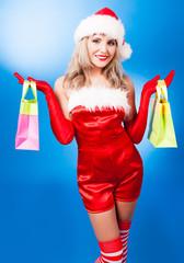 woman dressed as Santa