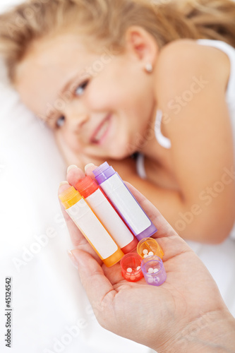 Little girl awaiting homeopathic medication