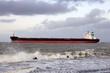 Large oil tanker