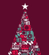 Christmas music objects tree - 45125500