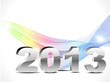 abstract new year background with colorful wave