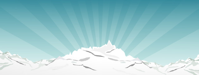 Mountains snow vector