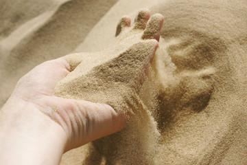 Die zeit verrrint wie Sand durch die Finger