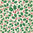 Christmas wooden mistletoe shape pattern