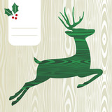Wooden Christmas deer silhouette