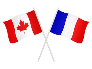 Drapeaux de l'alliance franco-canadienne