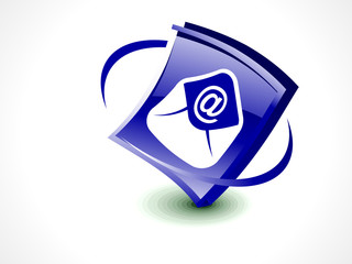 abstract glossy mail icon button
