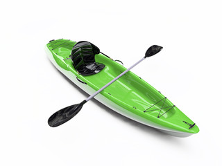 kayak isolated on white background