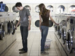 flirting at the laundromat