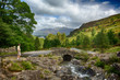 Ashness Bridge over small stream in Lake District