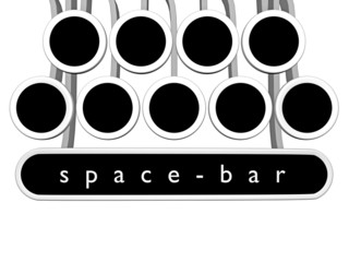 space bar_keyboard - 3D