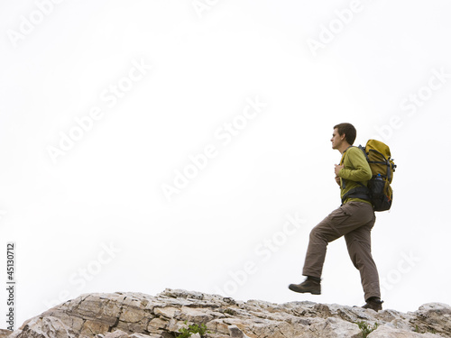 hiker on a ridge