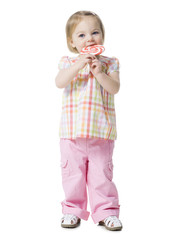 little girl with a lollipop