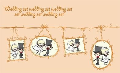 Свадебный невесты и жениха мультфильмов