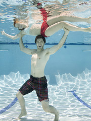 couple underwater