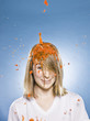 woman getting jello dumped on her head