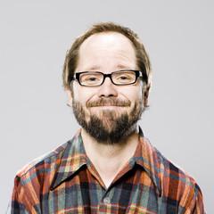 man in a plaid shirt