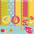 Scrapbook Design Elements -Funny Baby Bugs - in vector