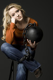 woman with a ball and chain