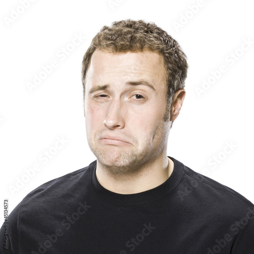 man making a disgusted face