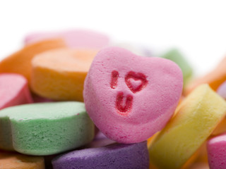 I heart you candy heart