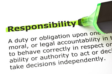 Responsibility highlighted in green