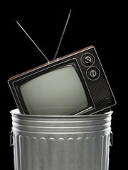 tv in the trash