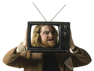 man in a tv