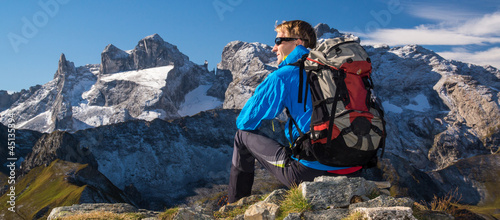 Pause mit traumhafter Bergkulisse