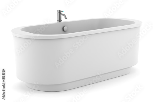 modern bathtub isolated on white background