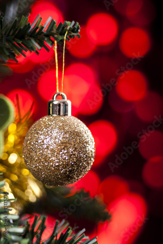 Christmas Decoration Hanging on Tree