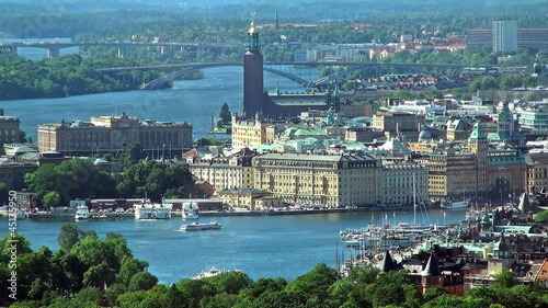 Аerial panorama of Stockholm, Sweden