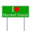 I love Marshall Islands, concept road sign