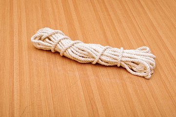 Detail of a twisted nylon rope