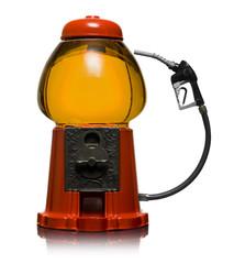 gumball machine as a fuel pump