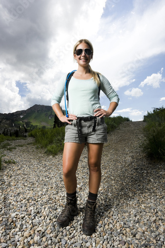 hiker choosing which path to take