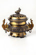 Feng shui object - golden chinese chest full of coins