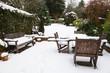 Winter patio and garden