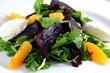 Beet salad with arugula, orange, roasted beets