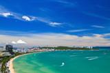 Fototapety Pattaya beach and city  bird eye view, Chonburi, Thailand
