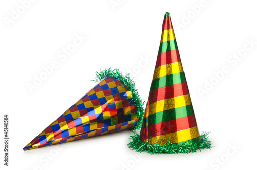 Party hat isolated on the white