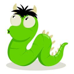 Cartoon illustration of strange creature