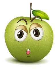 quite apple smiley