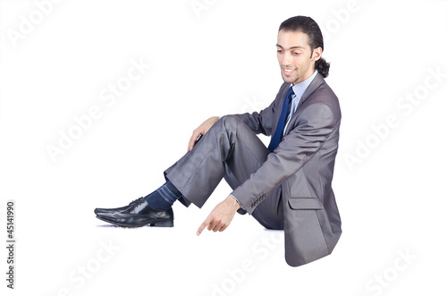 Businessman isolated on the white background